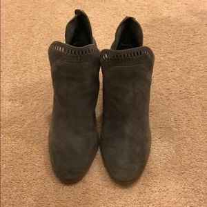 Vince Camuto booties in gray suede